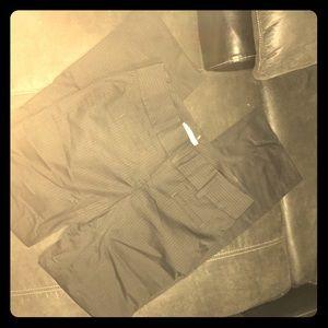 Pinstriped slacks
